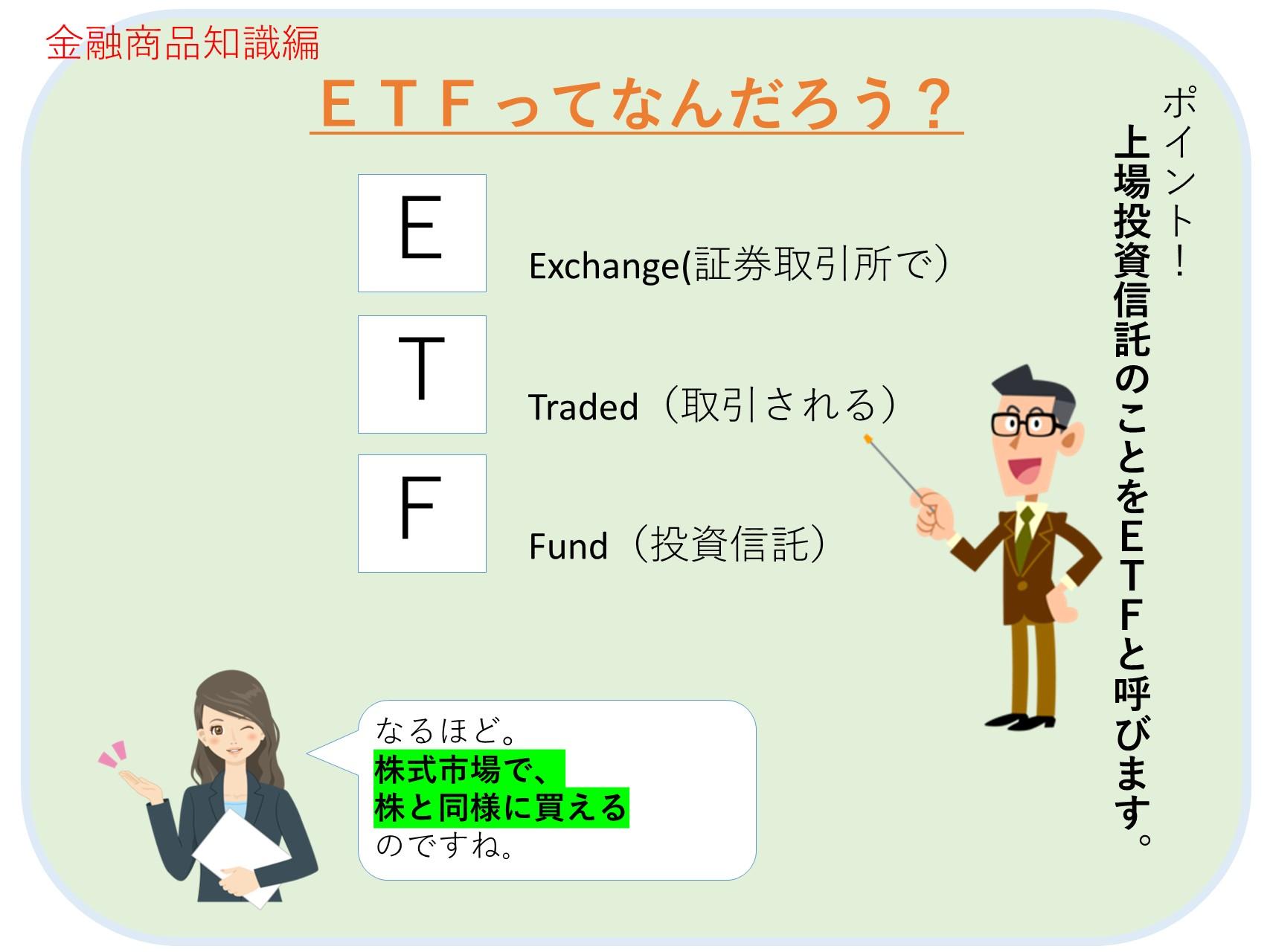 ETFとは上場投資信託のこと